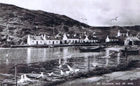 Circa 1950 - View over the Obbe from the Pier after the coming of electricity (note the electricity poles at the rear of the houses)