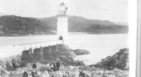 Circa 1890s - Visitors to Kyleakin Lighthouse