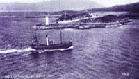 Circa 1935 - Steam trawler passing Kyleakin Lighthouse