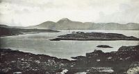 Lighthouse Island from the mainland, around 1910.