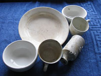 Crockery retrieved from the wreck of the Port Napier