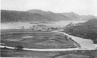Circa 1910s - View of Kyleakin crofts from Kyle Farm. Note there are no Council houses
