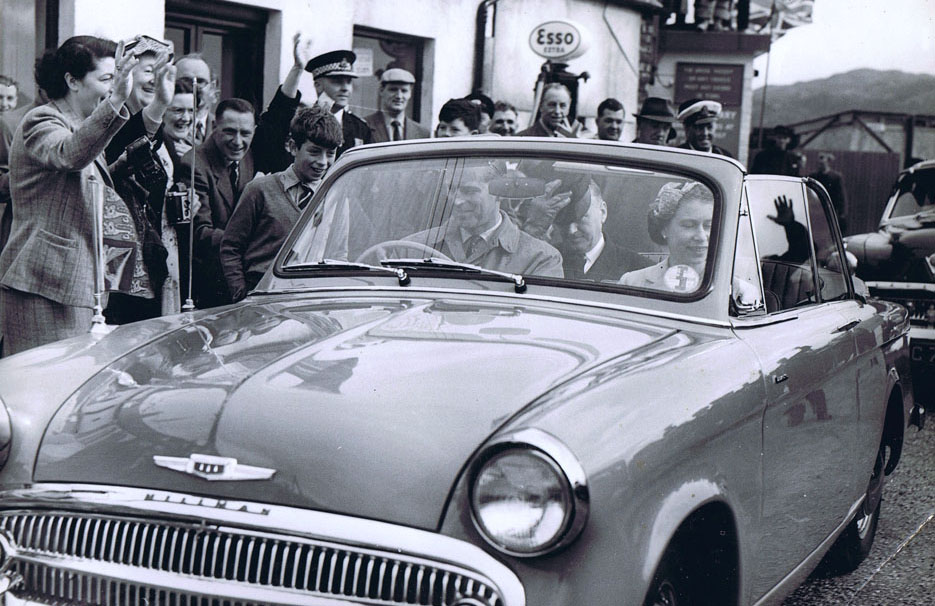 The Queen and the Duke of Edinburgh visit Kyleakin in 1956