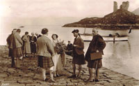 12th September 1933 - Duke and Duchess of York later to become King George VI and Queen Elizabeth landing at Kyleakin: