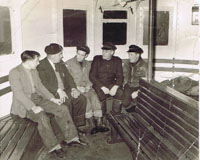 Circa 1960 - CSPCO Ferry crew in Passenger Saloon: