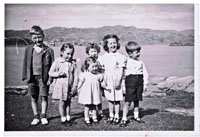 1951 - Group of children at Cliffe Cottage, Kyleakin: