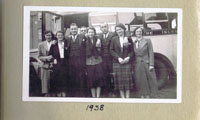 1938 - Bus in Portree Square: