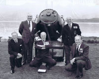 24th April 1982 - The Ceremony to Commemorate the Officers and Men of HMS Trelawney and 1st Minelaying Squadron at the Lochalsh Hotel, Kyle: